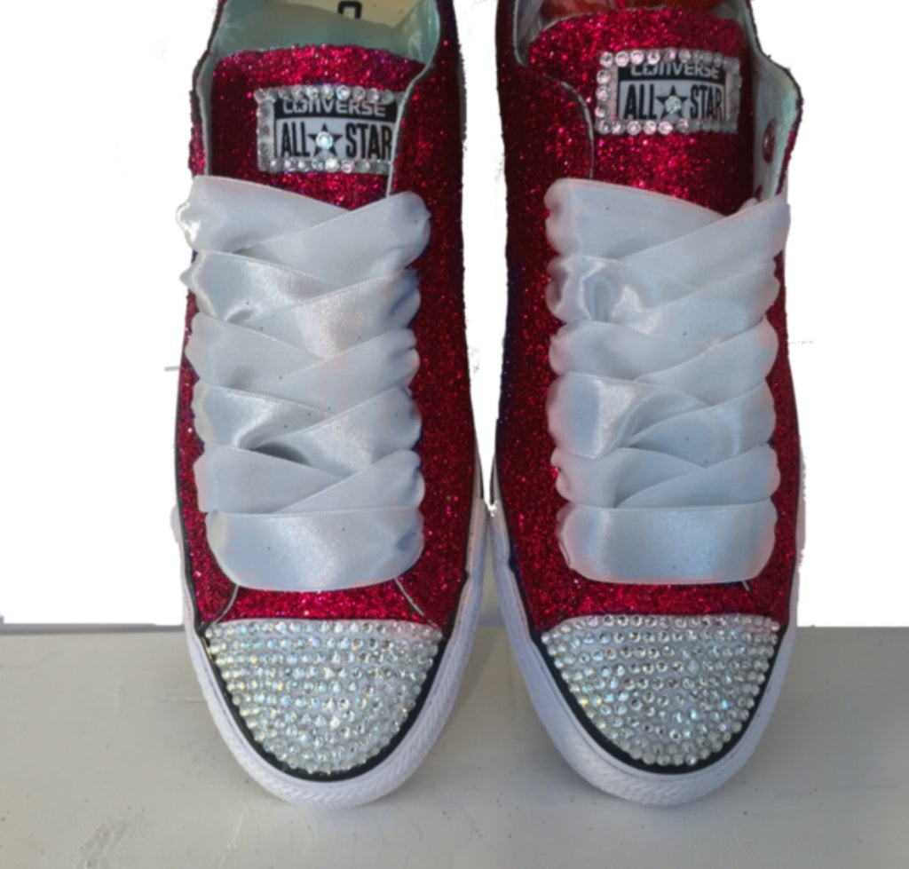 22dadf78557d Womens glitter bling crystals converse all stars red shoes wedding bride  prom pin PNG 1024x979 Red