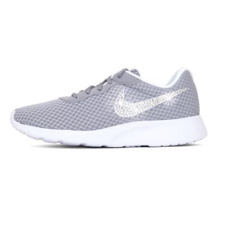 Womens Nike Shoes Swarovski Crystals Tanjun SE - Grey / White