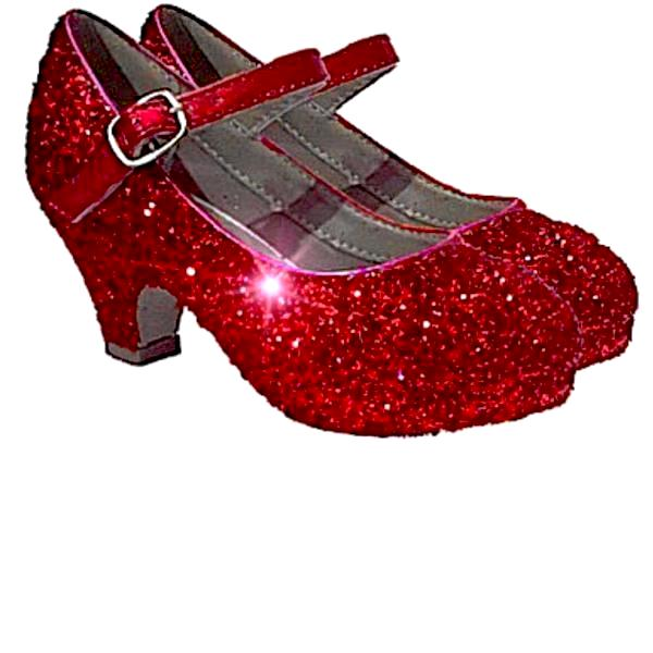 Girls Sparkly Glitter Mary Jane Heels Flower Girl Birthday Gift Pageant Shoes Red