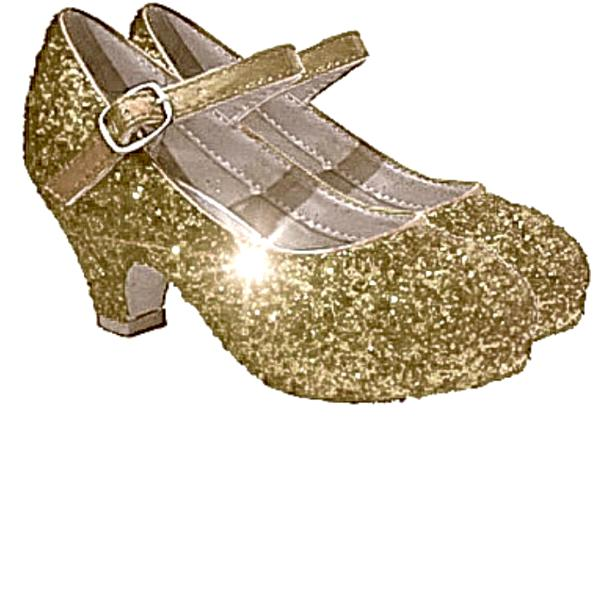 Girls Sparkly Glitter Mary Jane Heels Flower Girl Birthday Gift Pageant Shoes Champagne Gold