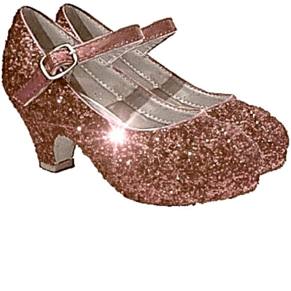 Girls Sparkly Glitter Mary Jane Heels Flower Girl Birthday Gift Pageant Shoes Rose Gold Pink