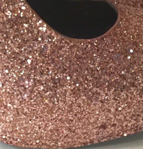 Women's Sparkly Metallic Rose Gold Pink Glitter ballet Flats wedding bride prom shoes - Glitter Shoe Co