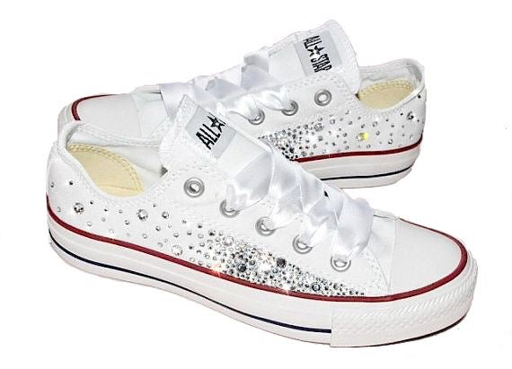 1df4cc3d7226 Women s Converse All Star Chucks Crystal Bling Sneakers Shoes wedding –  Glitter Shoe Co