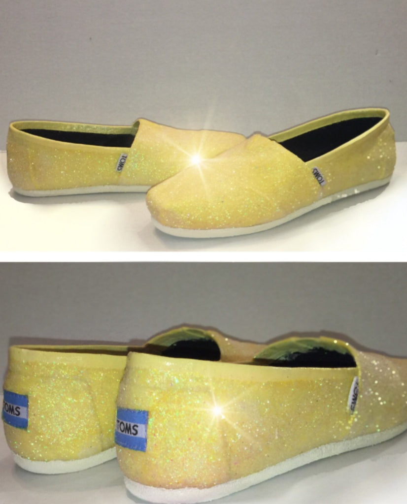 Womens Sparkly Glitter Toms Flats shoes