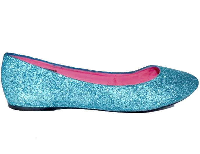 Sparkly Cinderella Ice Blue Glitter Ballet Flats shoes wedding bride Bridal