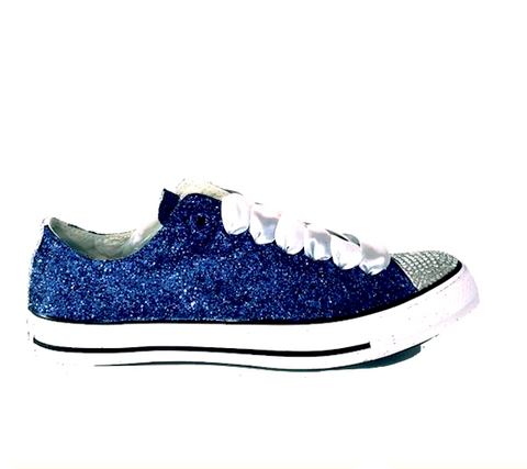 womens sparkly glitter shoes wedding bride converse heels