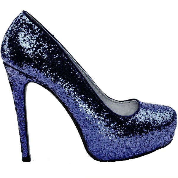 e1c37259f74b Women s Sparkly Navy Blue Glitter Pumps high Heels wedding bride prom shoes