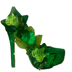 Women's Poison Ivy Green Sparkly Glitter SuperHero Heels costume shoes wedding bride