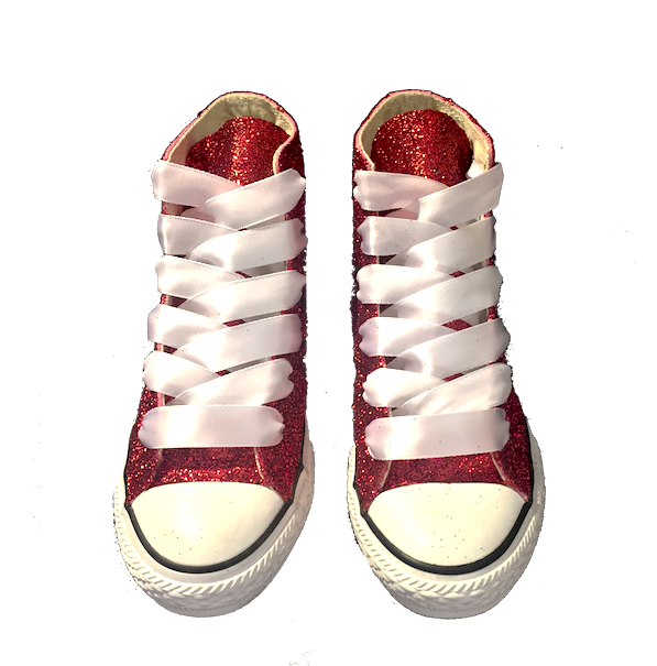 b28db32e460a ... Kids Sparkly Glitter Converse All Stars Bling Crystals Flower Girls  birthday Shoes red blue purple ...