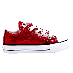 Kids Sparkly Glitter Converse All Stars low Bling Sneakers Shoes Burgundy Maroon