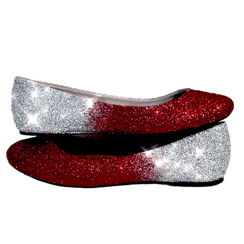 Women's Sparkly Burgundy Maroon Red Silver Ombre Glitter Ballet Flats Wedding Bride Shoes