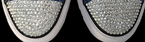 Kids Sparkly Glitter Converse All Stars low Bling Sneakers Shoes Royal Blue