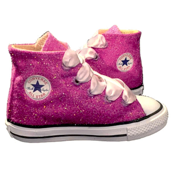 91f2e697427 Kids Glitter Converse All Stars Bling Crystals Flower Girls birthday –  Glitter Shoe Co