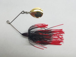 Black/Red-single blade spinnerbait