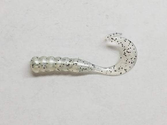 Johnson Beetle Grub, Pearl/Black Glitter