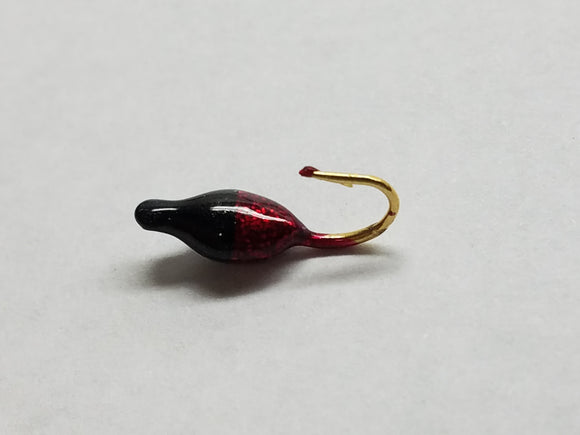 Lady Bug Ice Jig - Black/Red