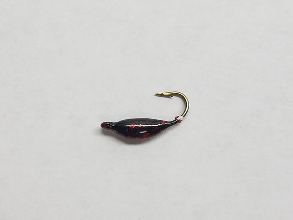 Moon Jig - Black Red Glitter