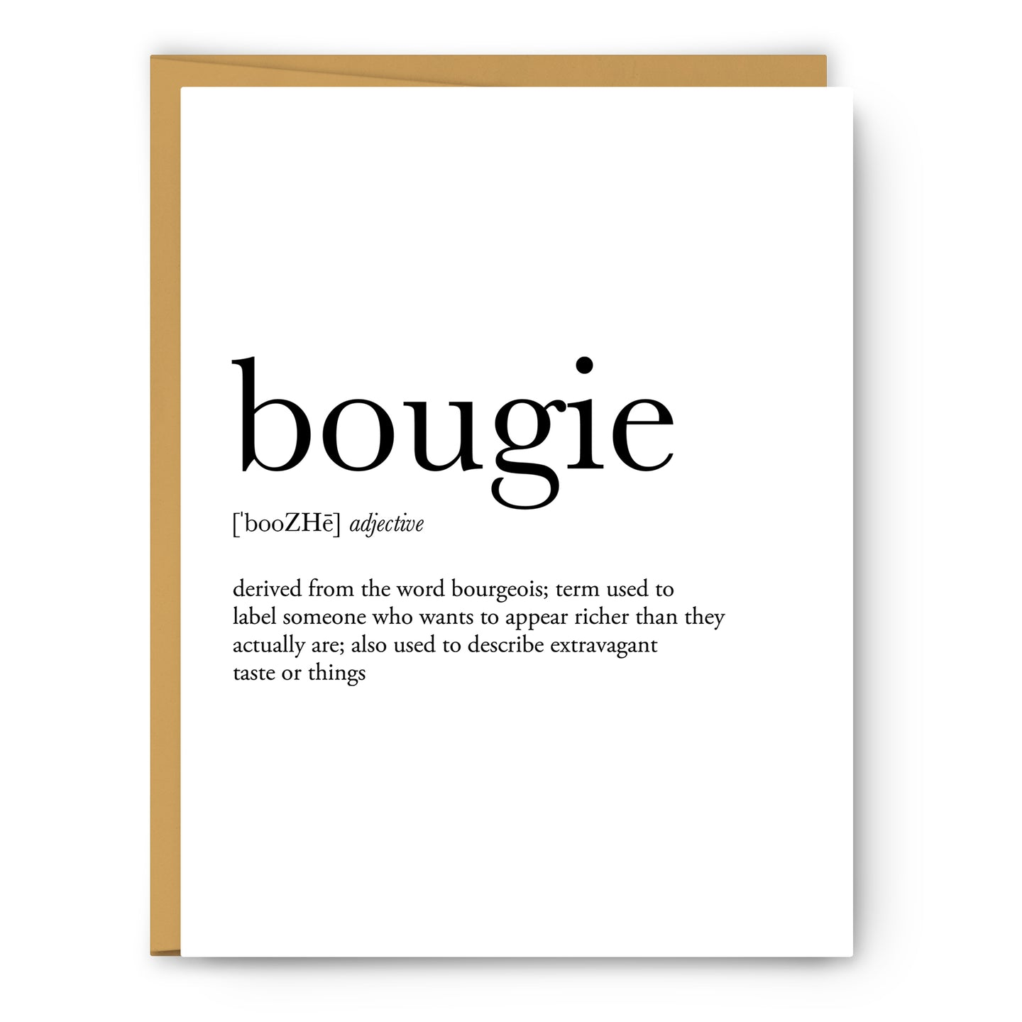 Bougie Definition - Unframed Art Print Or Greeting Card