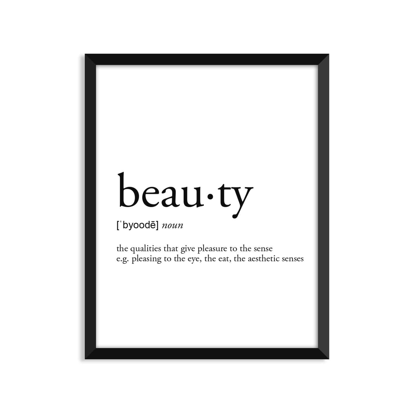 Beauty Definition - Unframed Art Print Or Greeting Card