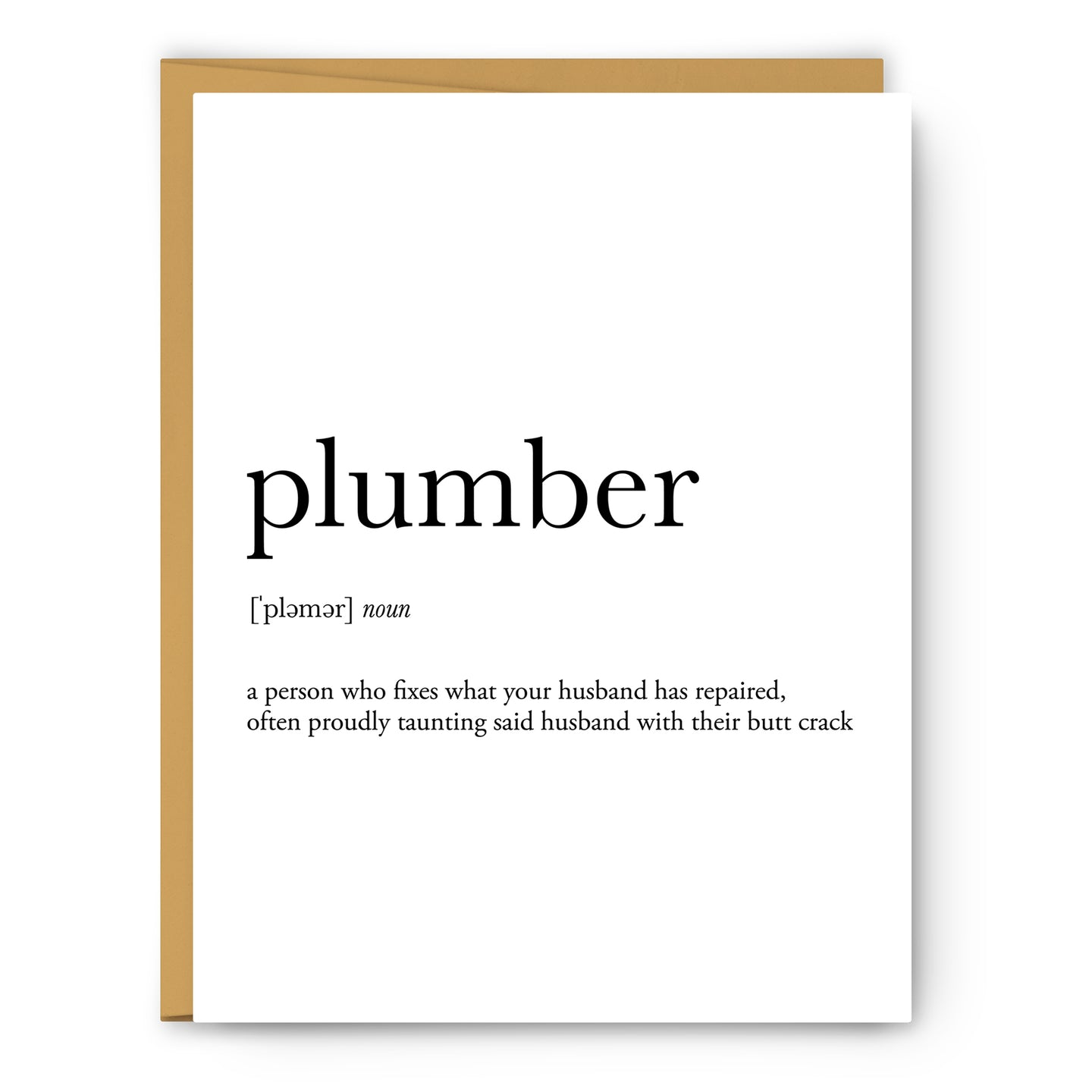 Plumber Definition - Unframed Art Print Or Greeting Card