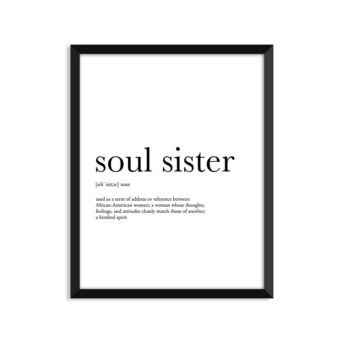 Soul Sister Definition - Unframed Art Print Or Greeting Card