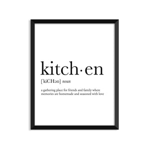 Kitchen Definition - Unframed Art Print Or Greeting Card