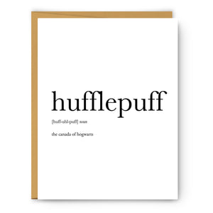 Hufflepuff Definition - Unframed Art Print Or Greeting Card