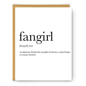 Fangirl Definition - Unframed Art Print Or Greeting Card
