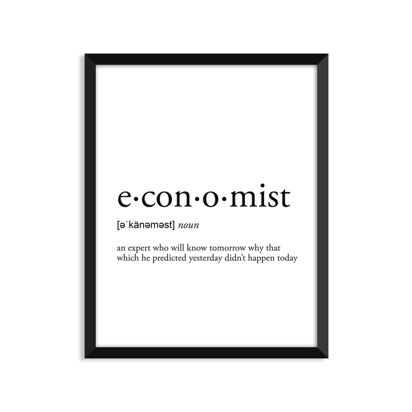 Economist Definition - Unframed Art Print Or Greeting Card