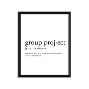 Group Project Definition - Unframed Art Print Or Greeting Card