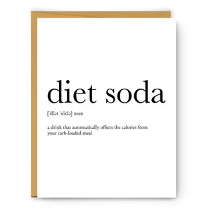 Diet Soda Definition - Unframed Art Print Or Greeting Card