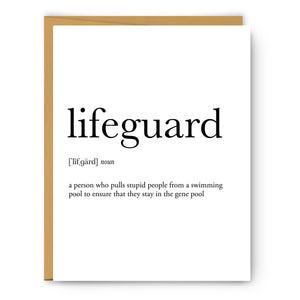Lifeguard Definition - Unframed Art Print Or Greeting Card