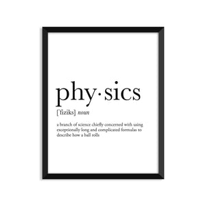 Physics Definition - Unframed Art Print Or Greeting Card