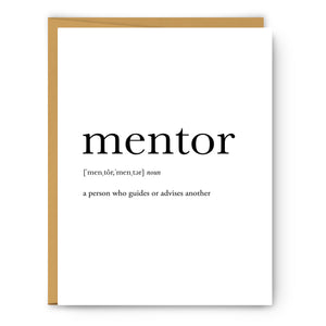 Mentor Definition - Unframed Art Print Or Greeting Card