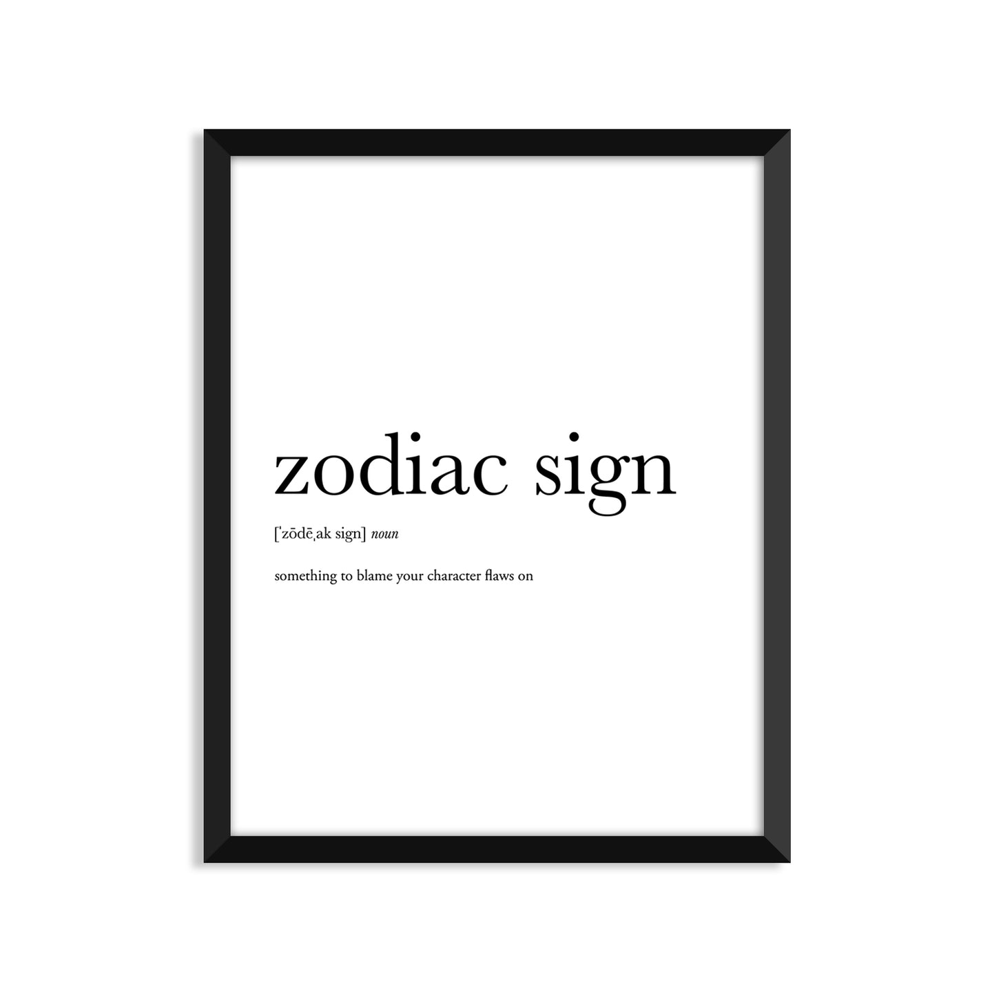 Zodiac Sign Definition - Unframed Art Print Or Greeting Card