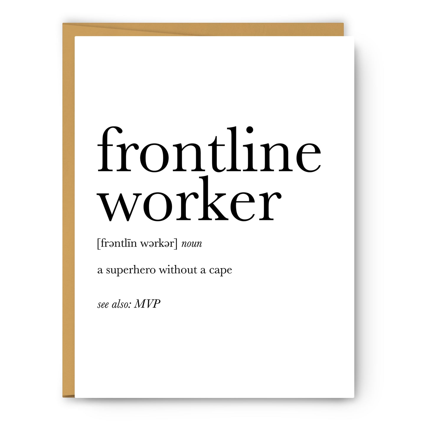 Frontline Worker Definition - Unframed Art Print Or Greeting Card