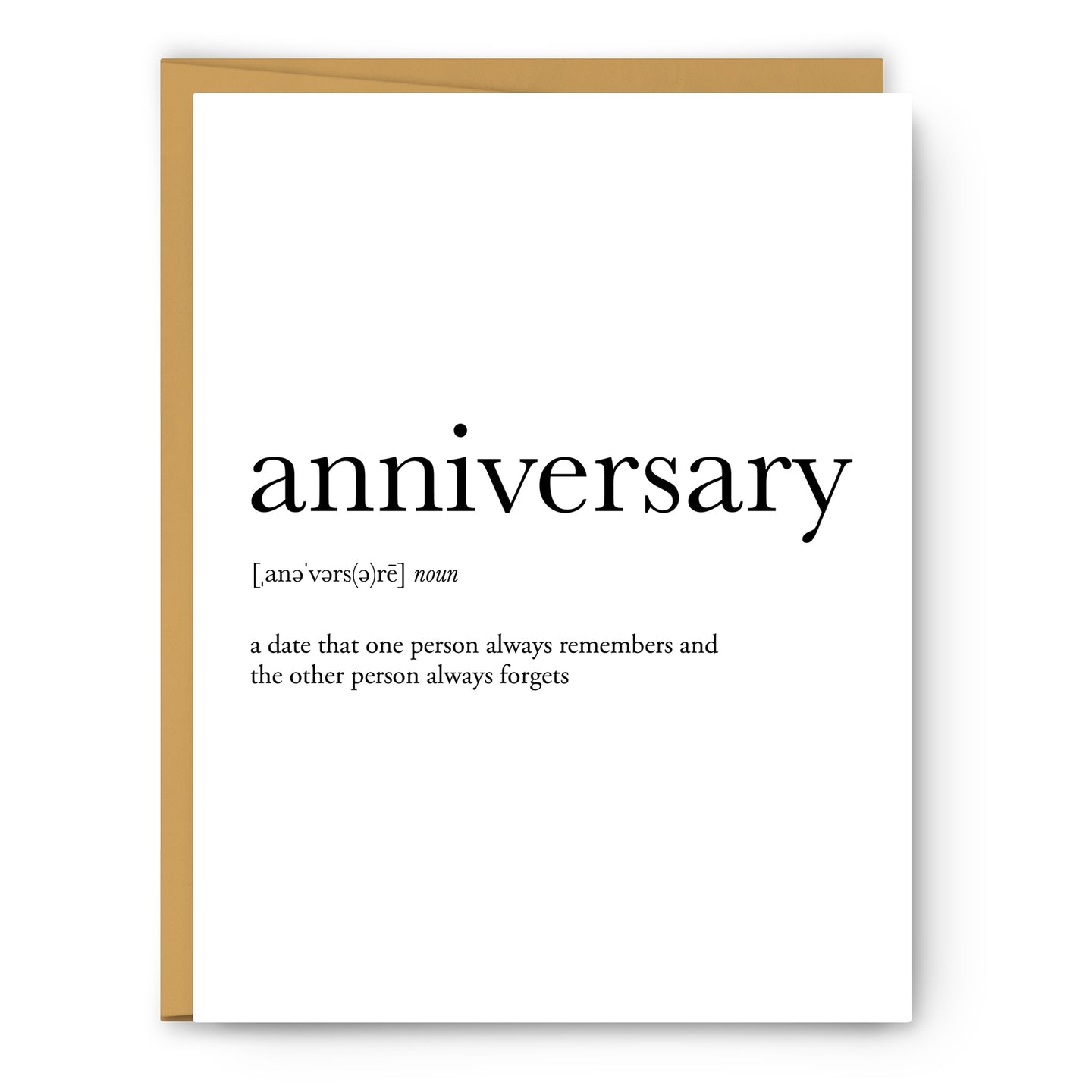 Anniversary Definition - Unframed Art Print Or Greeting Card