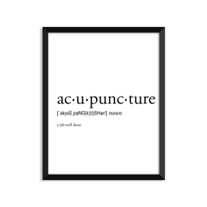 Acupuncture Definition - Unframed Art Print Or Greeting Card