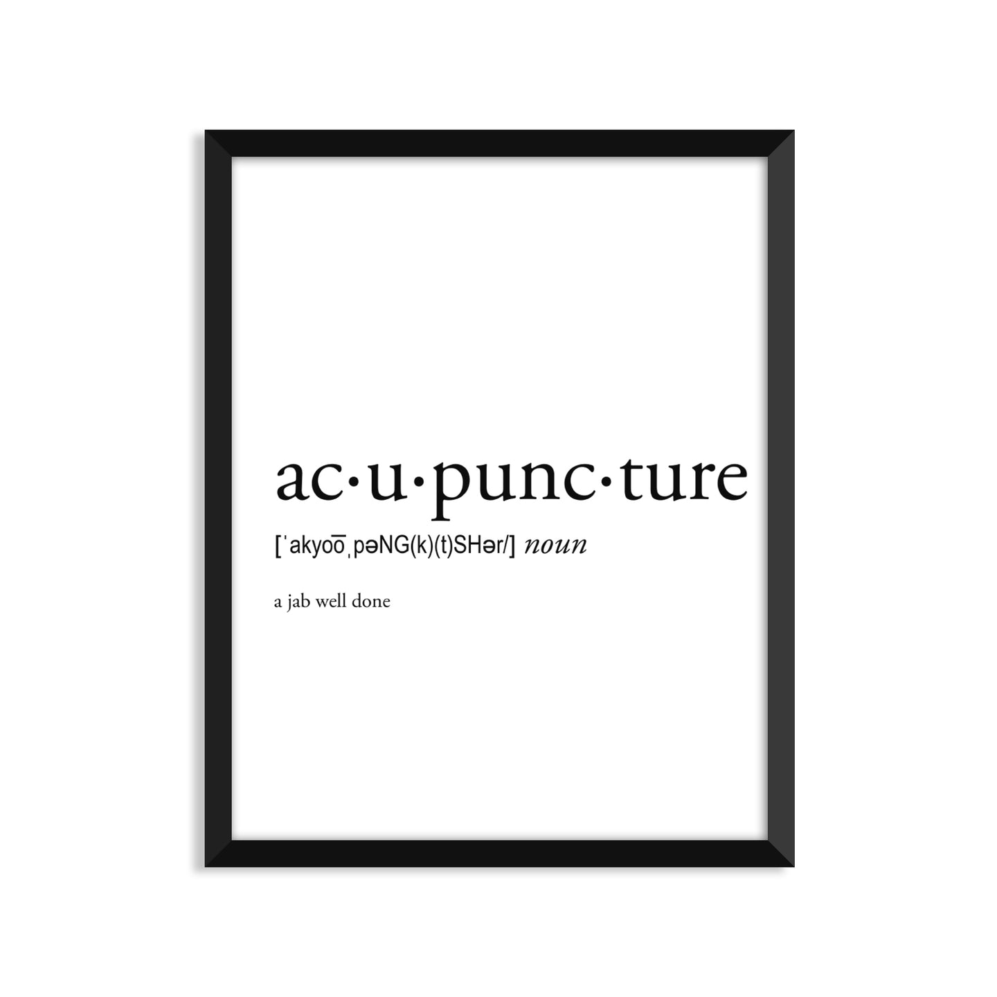 Acupuncture definition art print or greeting card