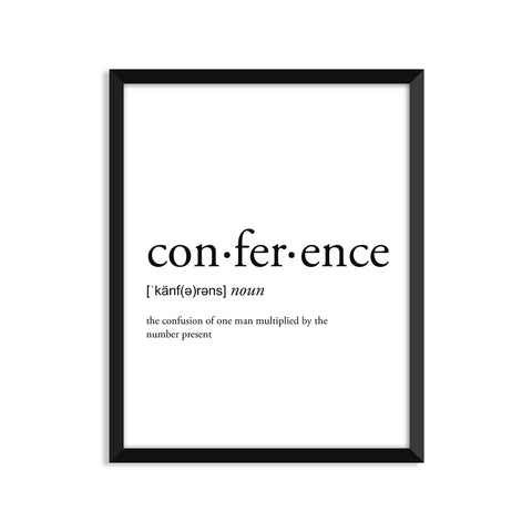 Conference definition art print or greeting card