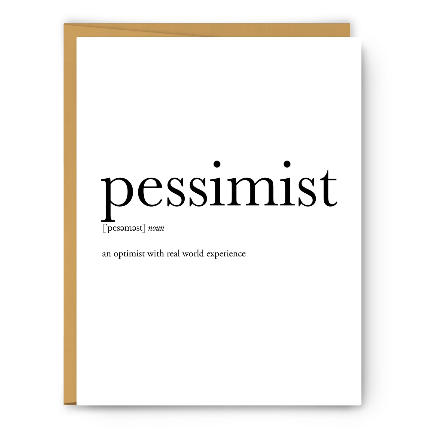 Pessimist Definition - Unframed Art Print Or Greeting Card