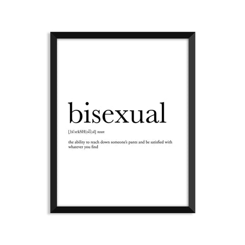 Bisexual definition art print or greeting card