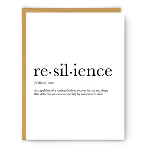 Resilience Definition - Unframed Art Print Or Greeting Card