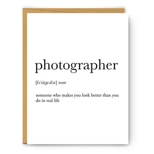 Photographer Definition - Unframed Art Print Or Greeting Card