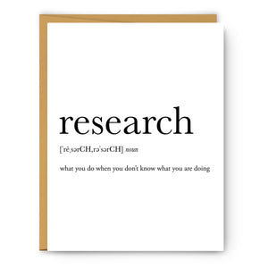 Research Definition - Unframed Art Print Or Greeting Card