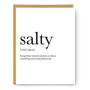 Salty Definition - Unframed Art Print Or Greeting Card