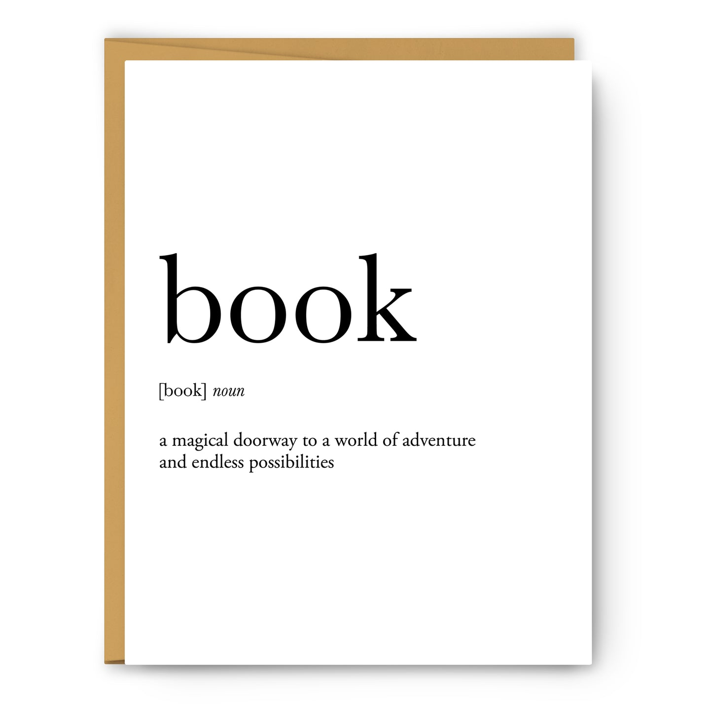 Book Definition - Unframed Art Print Or Greeting Card