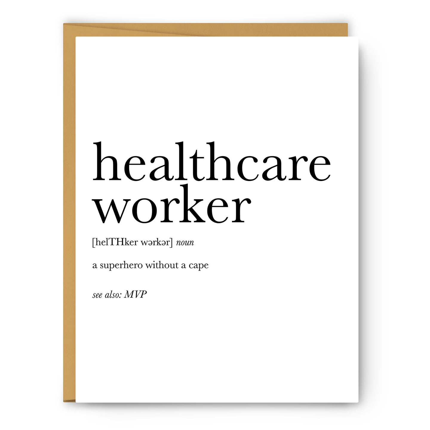 Healthcare Worker Definition - Unframed Art Print Or Greeting Card