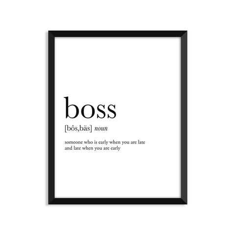 Boss definition art print or greeting card