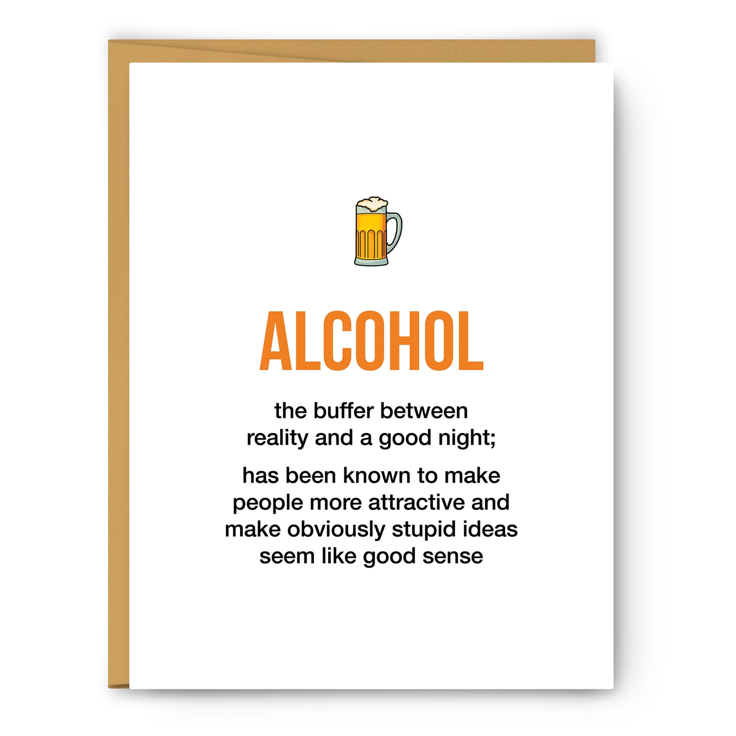 Alcohol Definition Illustration - Unframed Art Print Poster Or Greeting Card